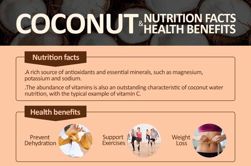 maistines kokosu pieno medziagos