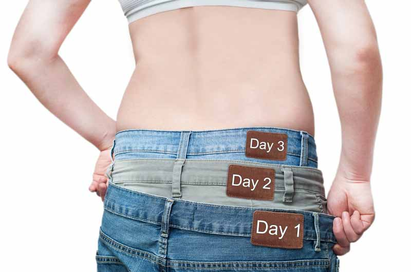 svorio metimas susitraukia