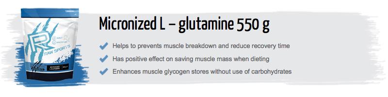raw powders glutamine